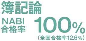 簿記論 NABI合格率100% (全国合格率18.8%)