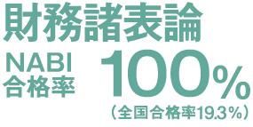 財務諸表論 NABI合格率100% (全国合格率15.6%)